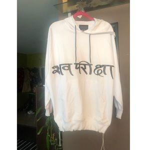 ⬇️$49 Mishka longline oversized white hoodie